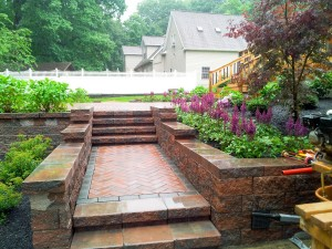 Beautiful Versa-Lok Wall and Paver Patio